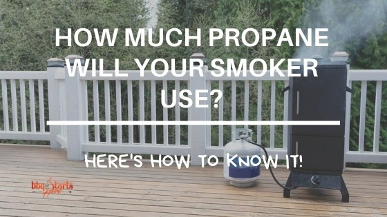 how much propane does a smoker use